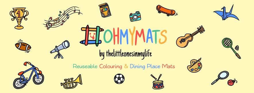 TOP SELLER - #ohmymats Reusable Colouring & Dining Place Mats