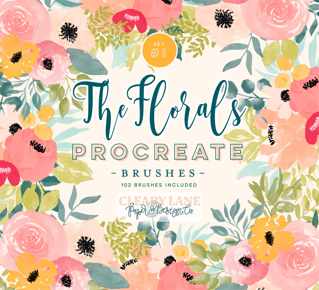 The Florals Procreate Brushes #1