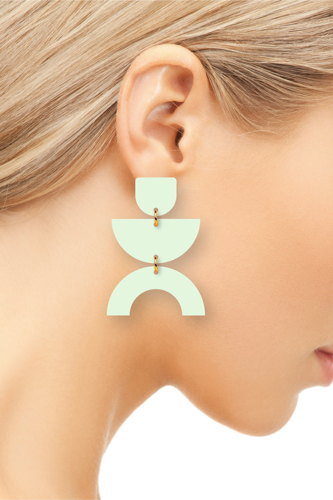 The Dina | Honeydew | Dangle Earrings