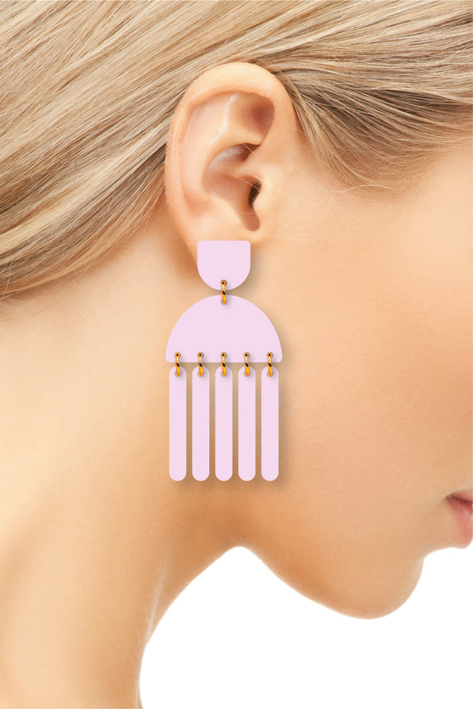 The Henley | Grape | Dangle Earrings