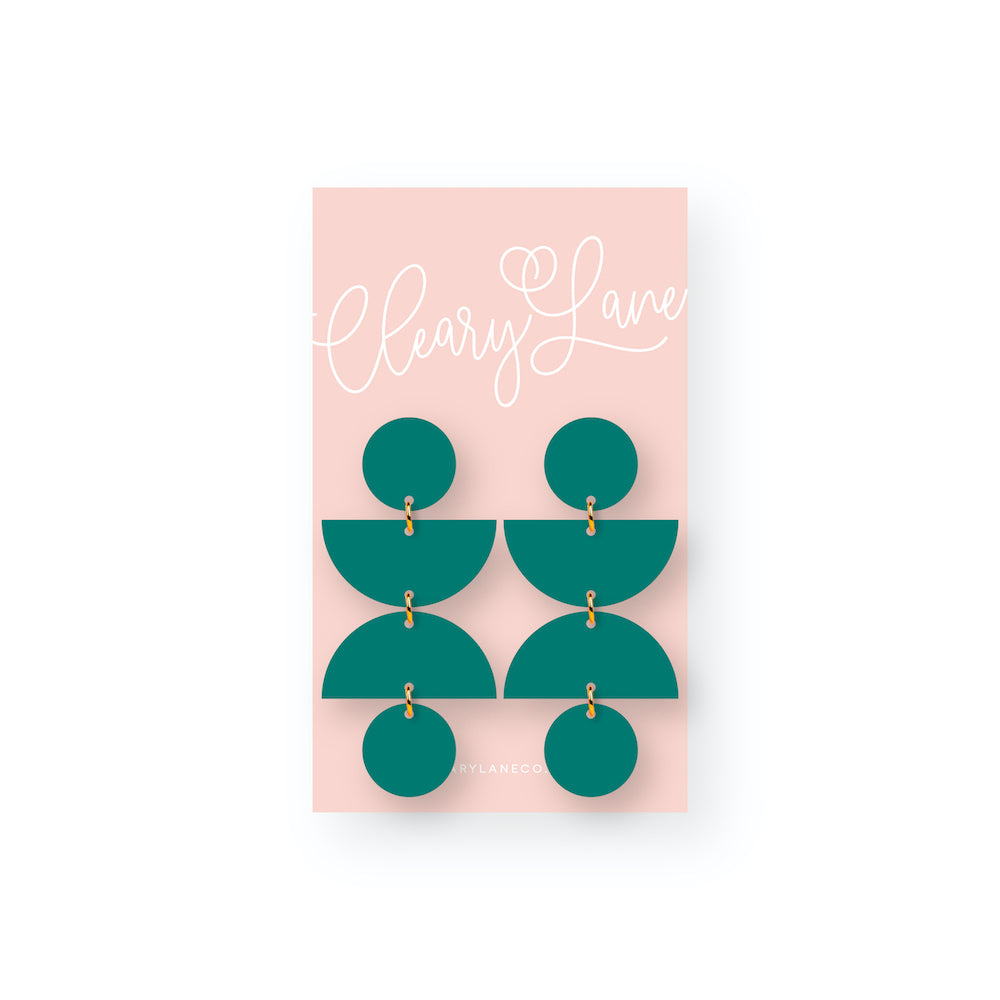The Olivia | Teal | Dangle Earrings