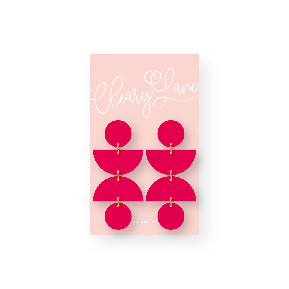 The Olivia | Magenta | Dangle Earrings
