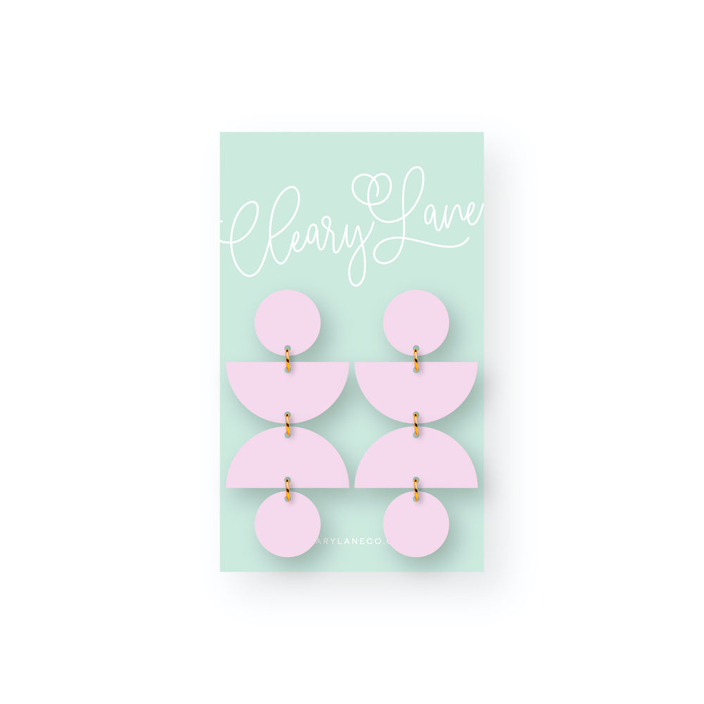 The Olivia | Grape | Dangle Earrings