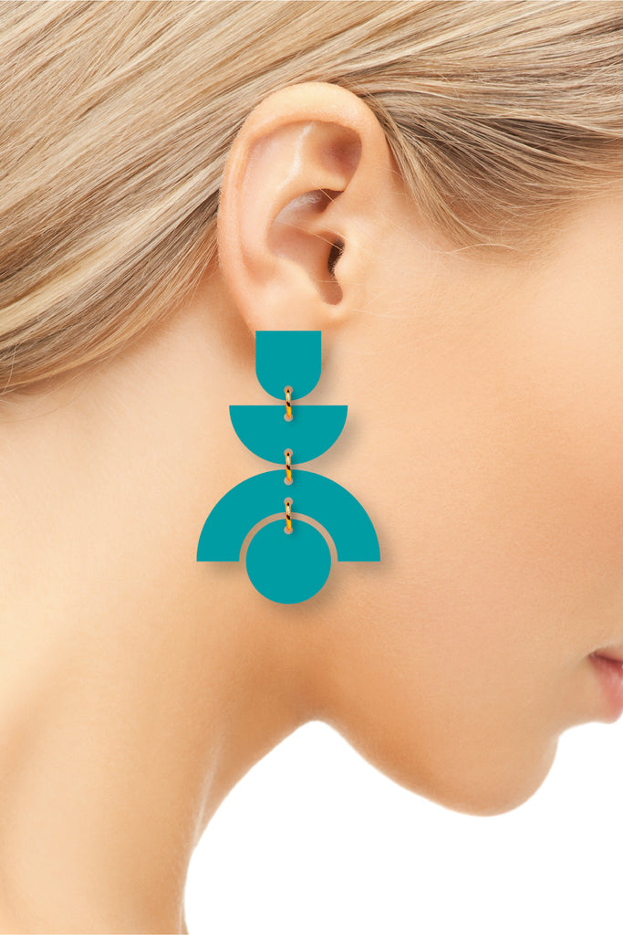 The Stella | Turquoise | Dangle Earrings