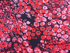 Printed Jersey Red Floral