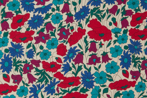 Liberty Fabrics Poppy and Daisy Tana Lawn Cotton (Turquoise)