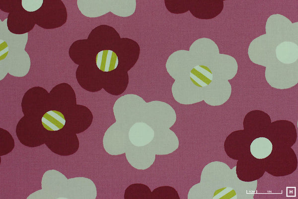 Cosmo Textile Printed Cotton Twill Modern Flower (1A Old Pink)