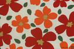 Cosmo Textile Printed Cotton Twill Modern Flower (2A Ivory)