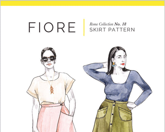 Fiore Skirt Pattern Rome Collections No. 18 [Closet Core Patterns]