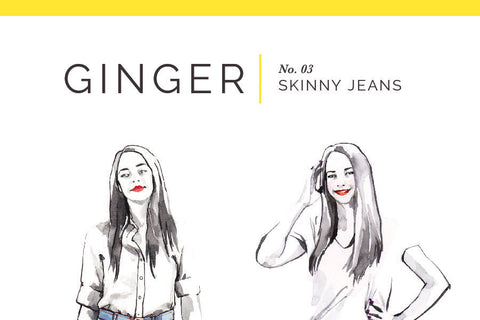 Ginger Skinny Jeans Pattern [Closet Core Patterns]