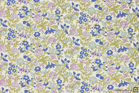 Liberty - The English Garden - Mamie (Mauve/Aqua/Blue)