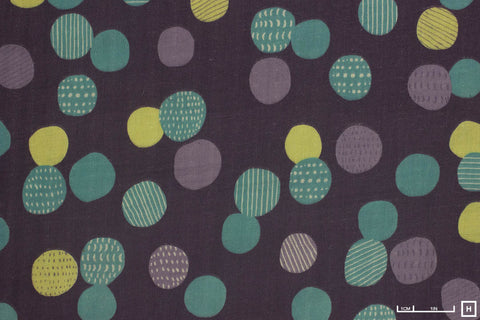 Kokka Original - Treflé - Natural Life - Dot Double Gauze (Purple)