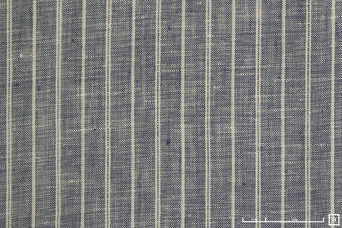 Sevenberry Yarn Dyed Linen Poplin Large Stripe (Blue)