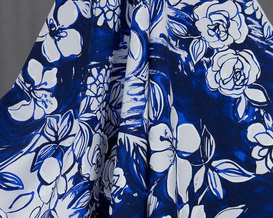 Koko Printed Floral Cotton (Blue)