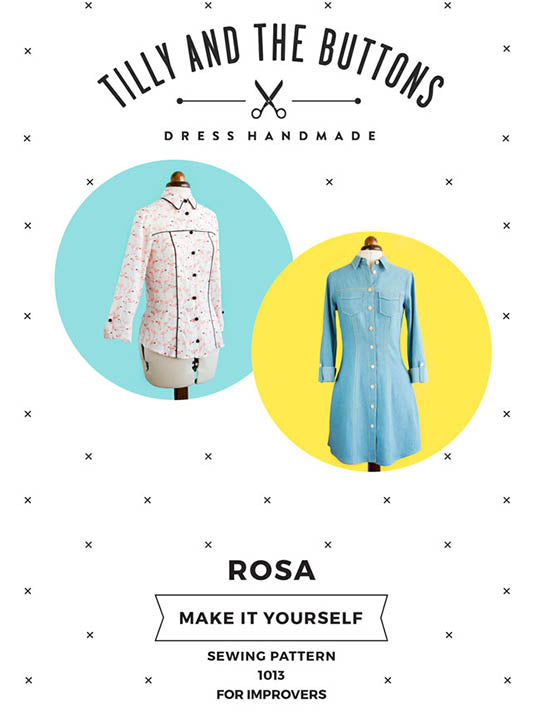 Rosa Shirt + Dress #1013 [Tilly And The Buttons]