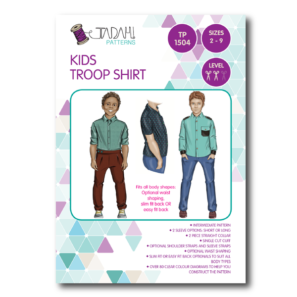 Kids Troop Shirt [Tadah Patterns]