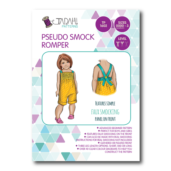 Pseudo Smock Romper [Tadah Patterns]