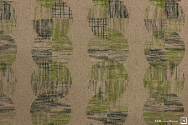 Kokka Cotton Canvas Dot Pattern (Green)