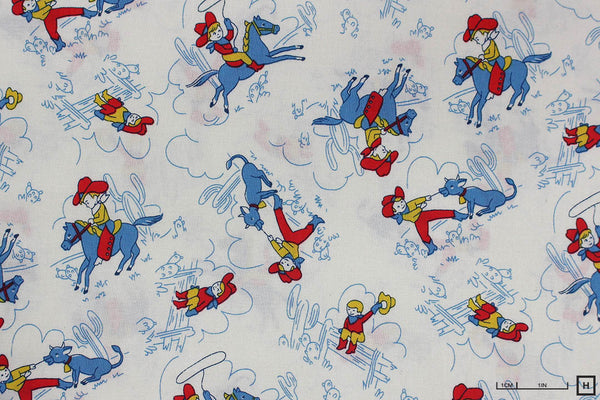 Windham Fabrics - Storybook Ranch by Whistler Studios - Round Up (Blue)