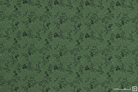 Cozies Printed Floral Flannel (Green)