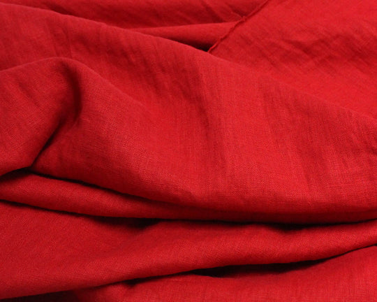 Demon Scarlet Laundered Linen by Merchant & Mills (Red)