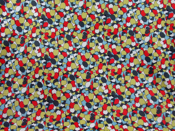 Hirary Printed Cotton (Red/Blue)