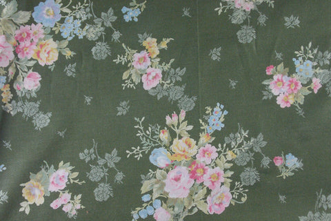 Floral Cotton Jacquard (Green)