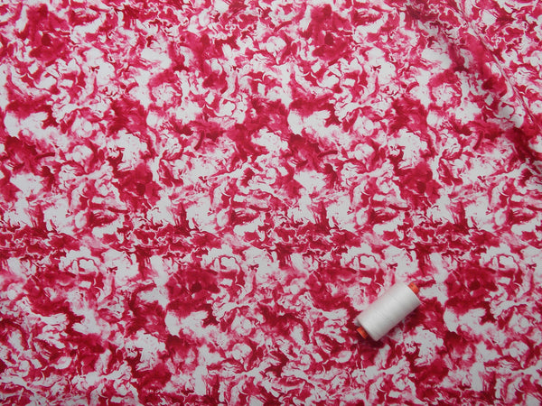 Strawberry Cream Printed Cotton (Pink)