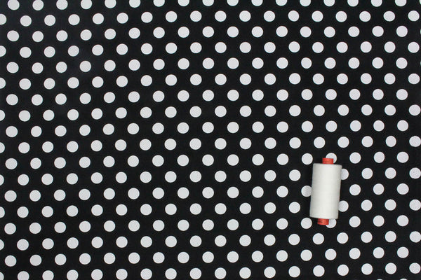 Spotty Stretch Cotton (Black)