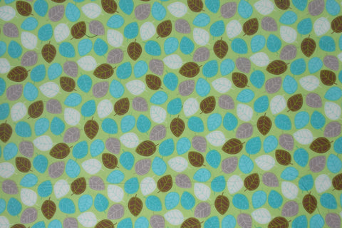 Leaf Cotton Flannel (Green/Blue)