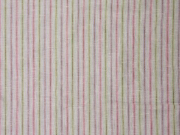 Striped Linen (Pink/Green)
