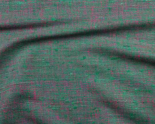 Hand Woven Silk Suiting (Mint/Cyclamen)