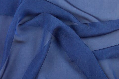 Shot Silk Chiffon (Blue)