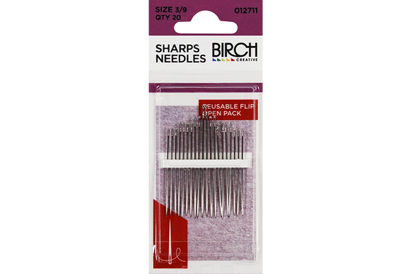 Birch Sewing Needles - Size 3/9 - 20PK
