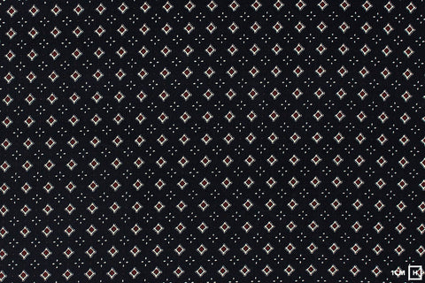 Kokka - Charcoal Small Crest Pattern - Corduroy (Navy)