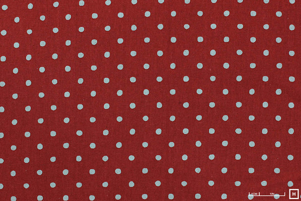 Sevenberry - Printed Cotton/Linen Canvas - Spots (Rose Red)