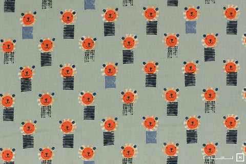 Cotton + Steel - Alexia Abegg - Sunshine - Lions (Blue)