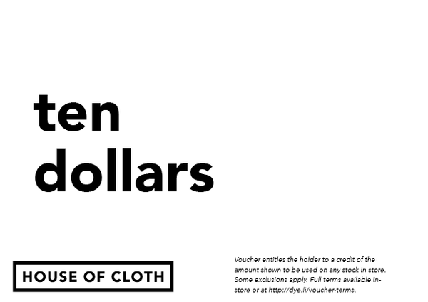 House of Cloth Voucher