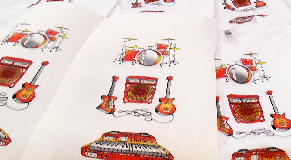 """Instruments"" 4-Color Screen Print"