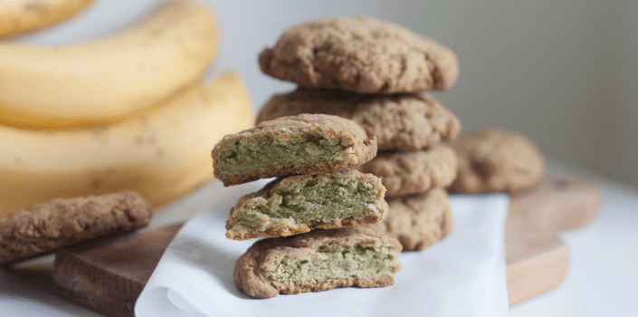 Banana Matcha Cookies Recipe by Louisa Rose