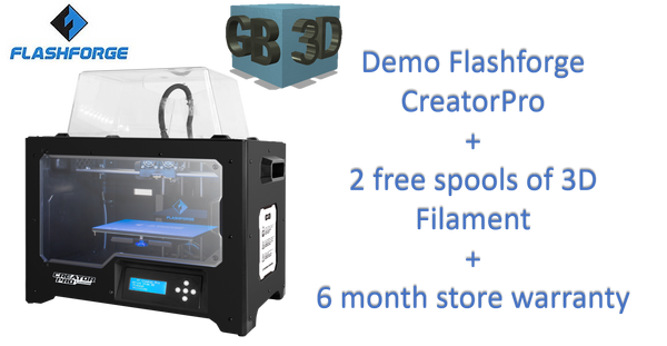 Demo/ Refurbish Flashforge Creator Pro