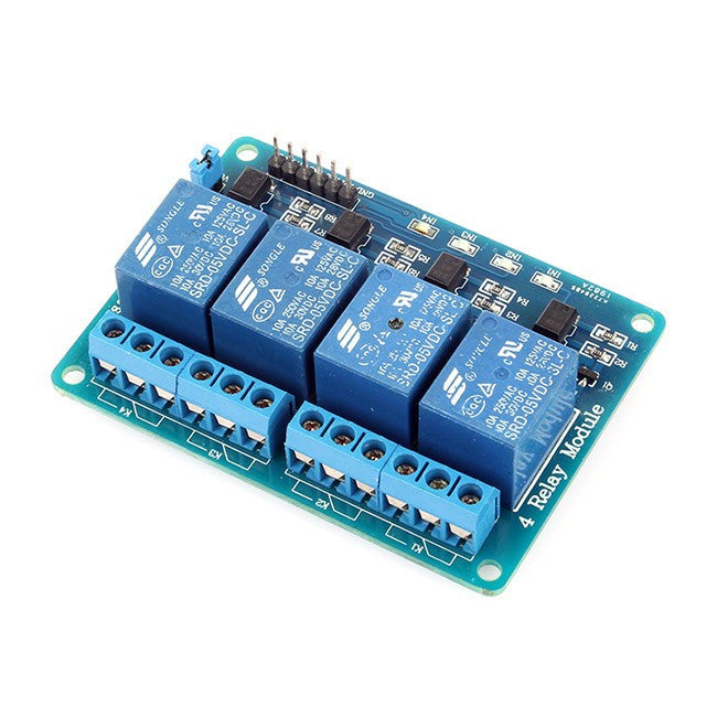 5v 4 Channel Relay Module + Indictation LED's