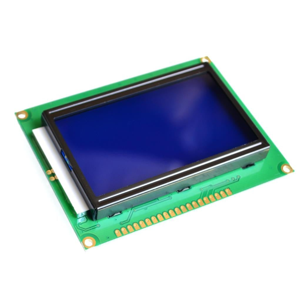 128x64 Dots Graphic Blue Color Backlight LCD Display Module  Arduino