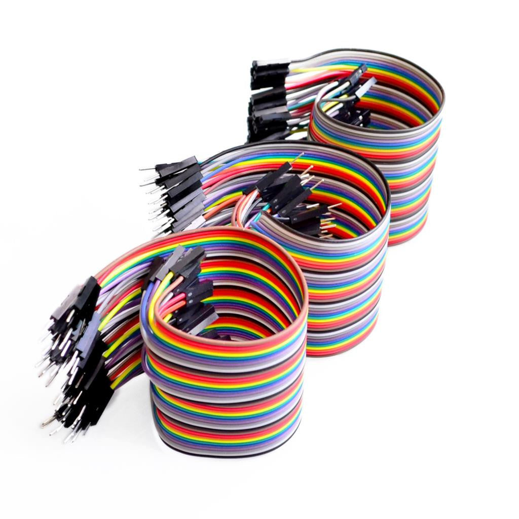 120pcs 10cm Dupont Wire F-F + M-F + M-M (Arduino/PIC) Breadboard Jumper Cable - Monster Electronics