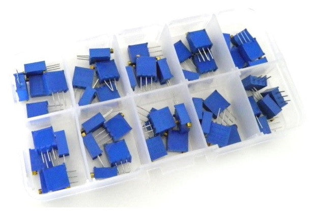 3296W Multiturn Trimmer Potentiometer Kit High Precision 3296 Variable Resistor (36Pcs) - Monster Electronics