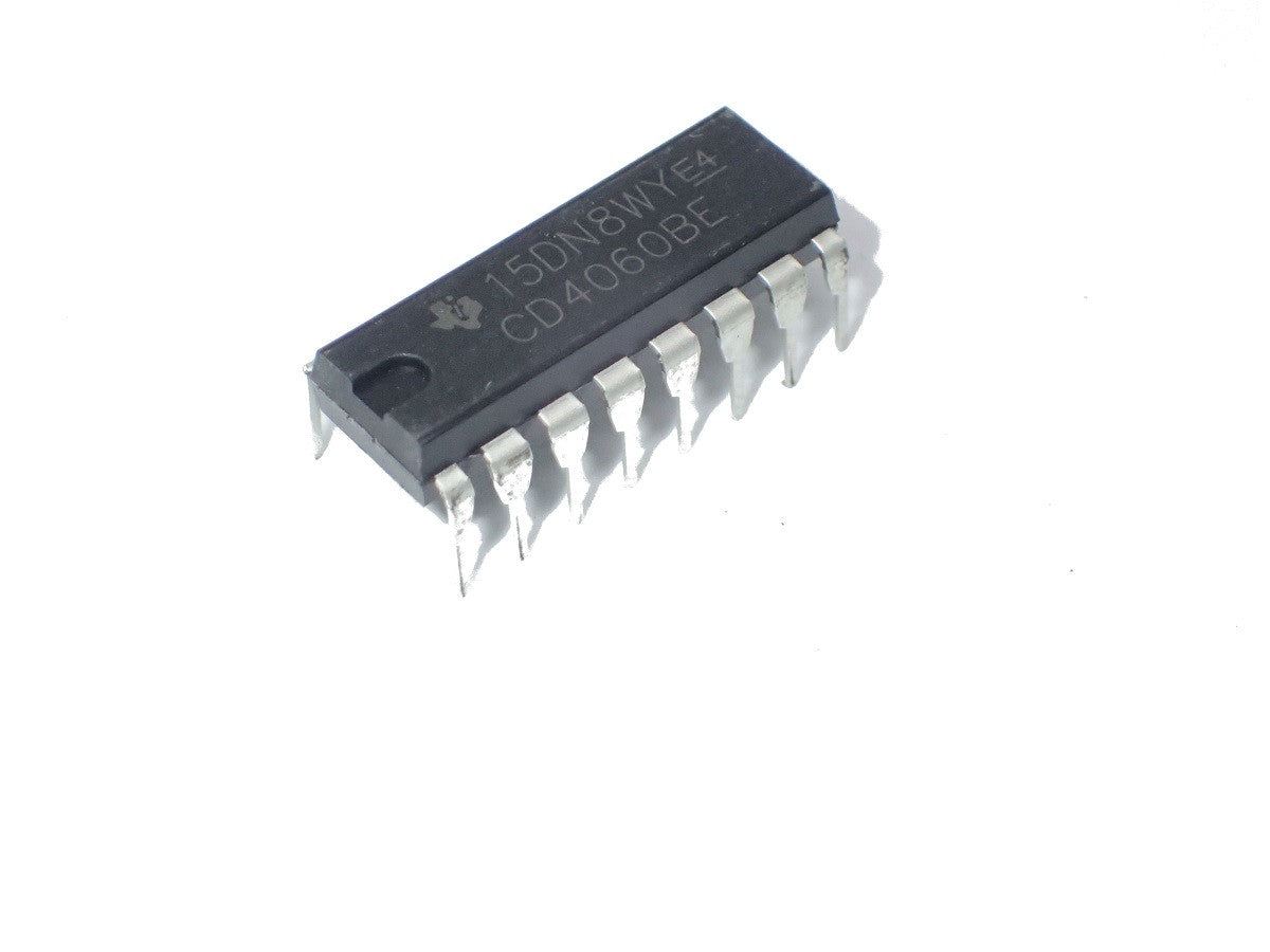CD4060BE  Ripple Carry Binary / Divider, 24 MHz, 1 Gate, 1 Input, 3 V to 18 V, DIP-16 x 2Pcs