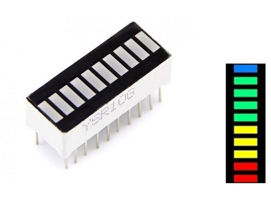 2Pcs 10 Segment 4 Colour LED Bar Graph Display