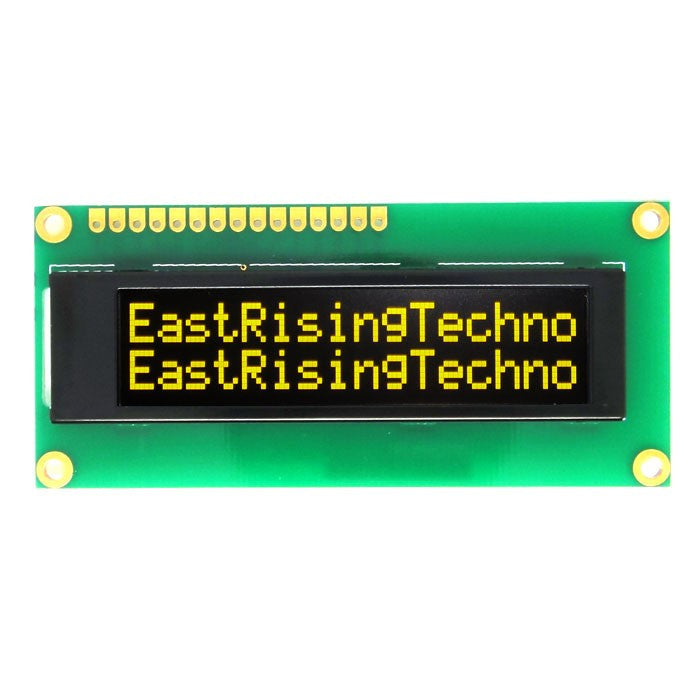 16x2 1602 Character OLED Display Module SPI,Parallel,I2C Yellow on Black Arduino