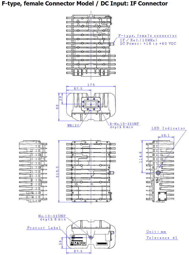 NJT5762F Outline Drawing