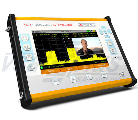 Promax HD RANGER UltraLite : Tablet type TV & Satellite Analyser
